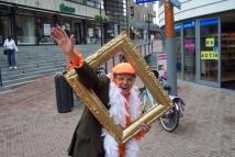 Oranje fotograaf