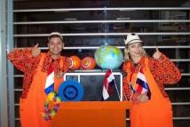 Oranje mobiele spelshow