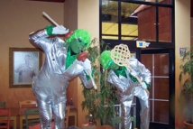 Spacemen on holiday