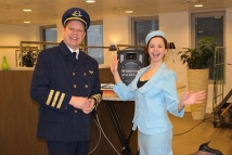 Stewardess en Piloot