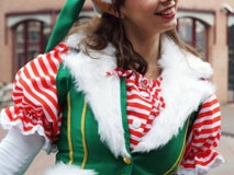 Kerstman in arrenslee (10)